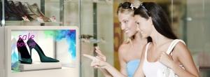 Transparent Display Shoe Shop