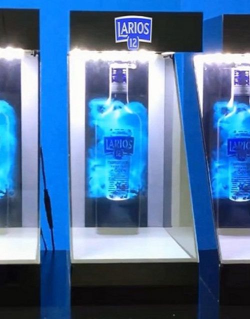 Holographic Display for Bottles
