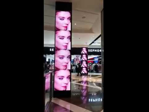 totem led screen in a shop