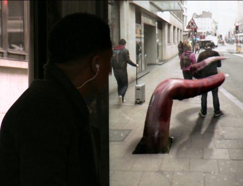 Realidad aumentada, ilución óptica en las calles de Londres