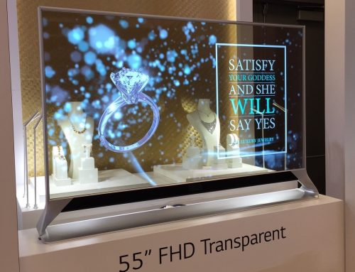 New Oled Transparent screen is ISE 2016