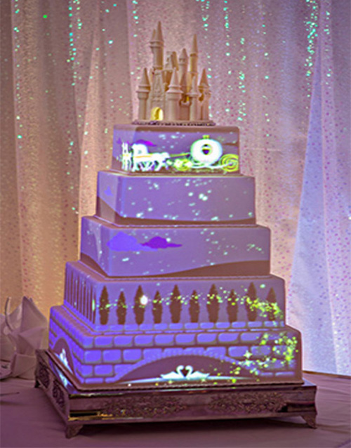Cake with video projection