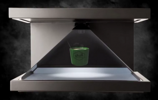 Holographic Display and video content for product launch