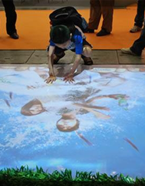 Interactive projections wall floor