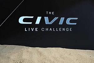 Honda Civic Challenge holographic video content