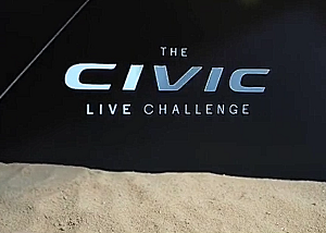 Honda Civic Challenge holographic video content