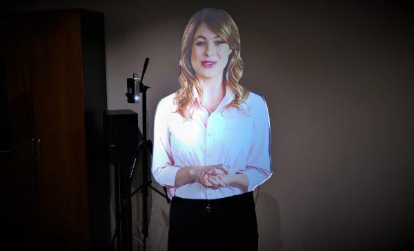 virtual presenter for exhibitions