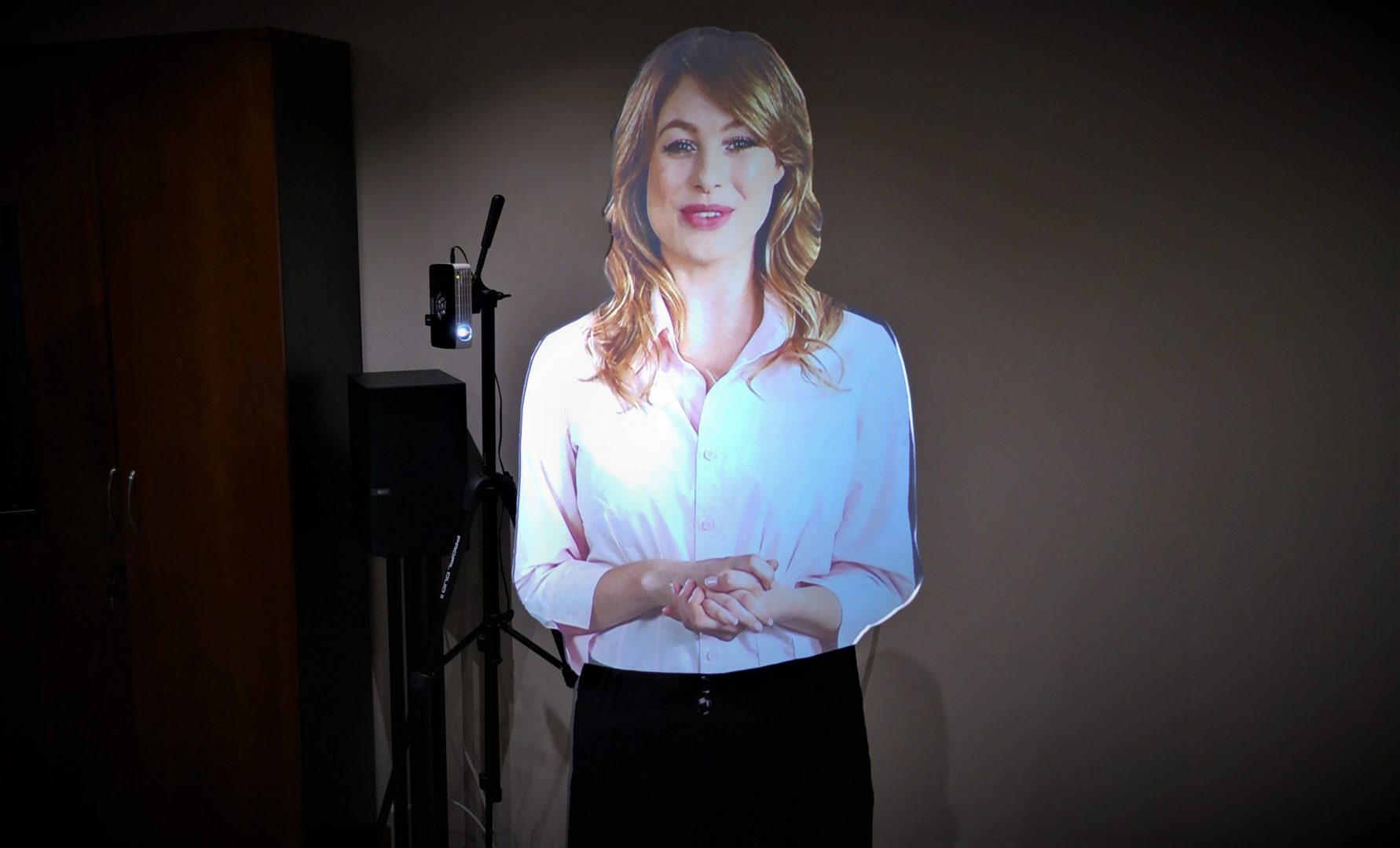 virtual presenter for exhibitions