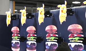 fan display led hologram restaurants