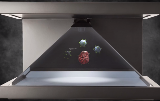 Pharmaceutical holographic display