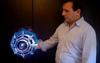 Holographic Fan Display Testing