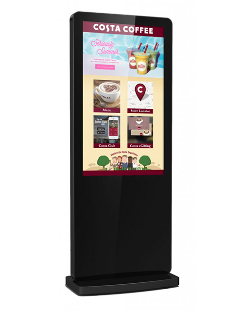 Freestanding totem touch screen-shop