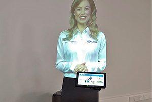 Interactive virtual presenter mannequin