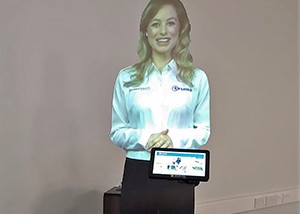 Interactive virtual presenter mannequin