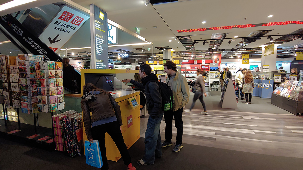 LEGO POS Holograms at FNAC Ternes Paris France 3