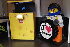 Lego Holograms in a event in Paris portfolio