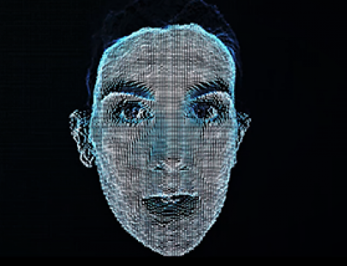 Holographic Face for an event in Dublin, Ireland