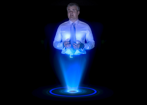 Nebosh hologram in a pyramid for safe and safety