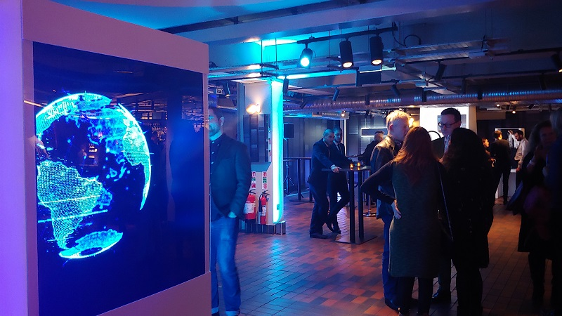Holographic box with a LED Fan event central london for BFI 13