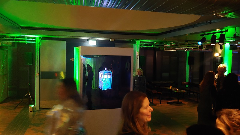 Holographic box with a LED Fan event central london for BFI 15