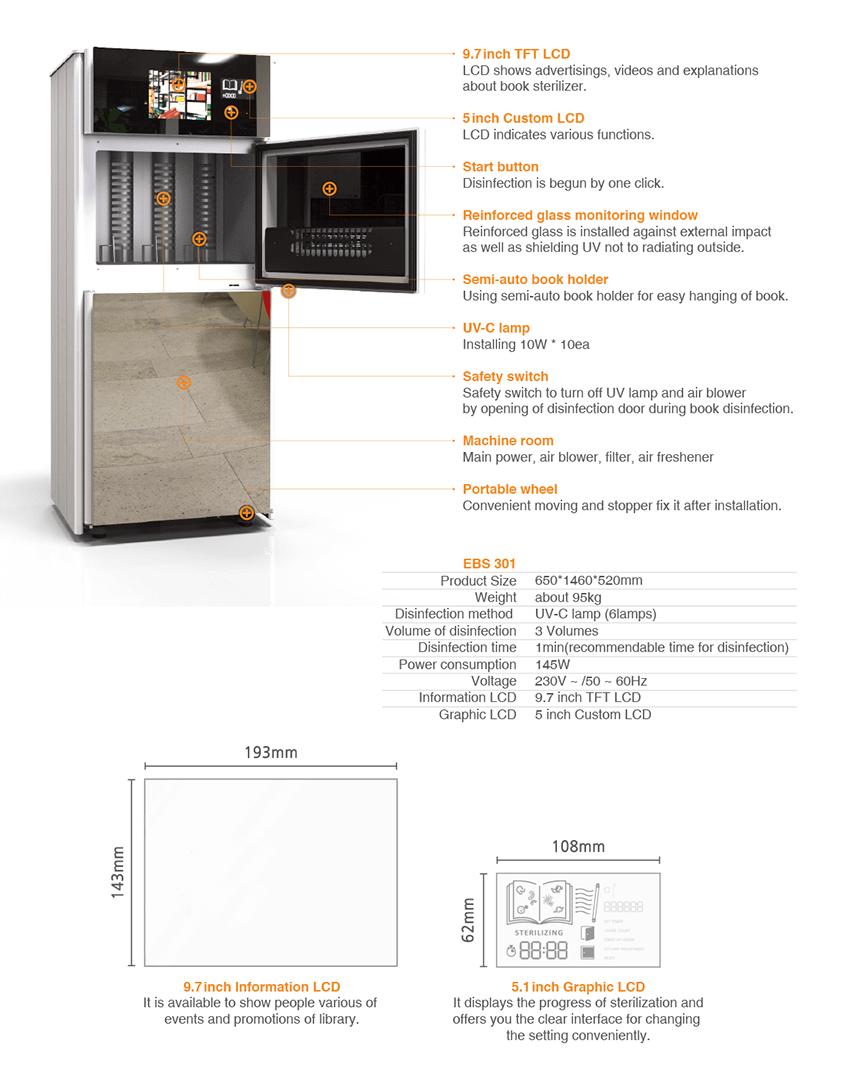 UV book sterilizer machine for libraries