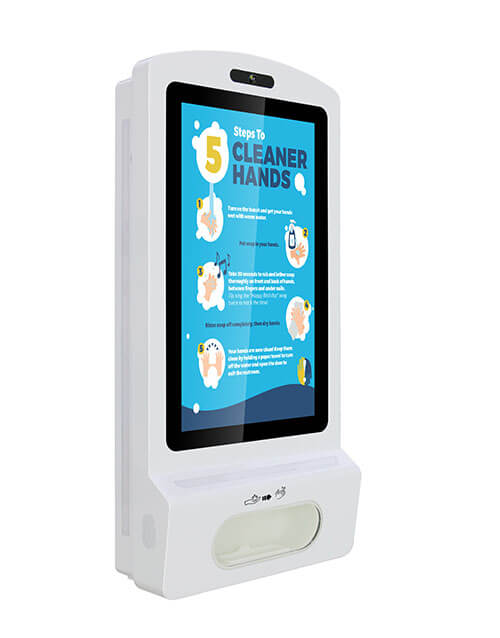 Hand Sanitizer automatic dispenser screen kiosk