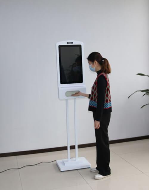 Hand Sanitizer automatic dispenser screen kiosk