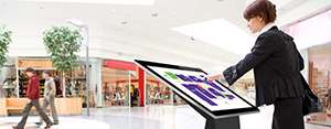 Digital Signage touch kiosk table and totems