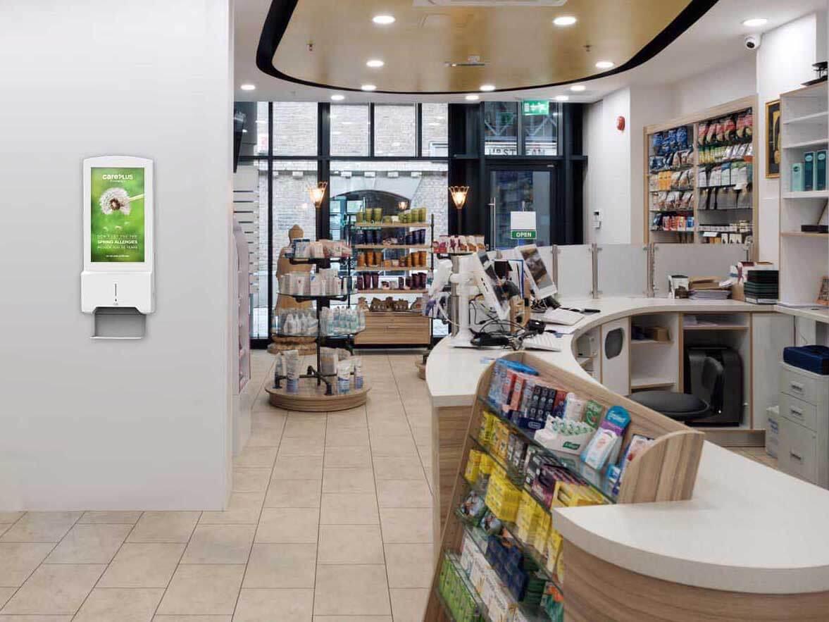 Hand-Sanitiser-Android-Advertising-Display-Pharmacy